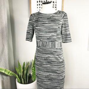 Trina Turk black tan work dress sz 4